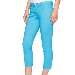 US Polo Assn Women's Turquoise Blue Capri Pants 16